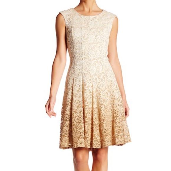 c1560f53 Chetta B Dresses   Sleeveless Lace Fit And Flare Dress A18   Poshmark